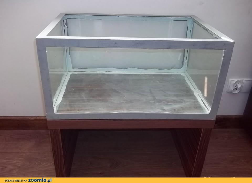 TERRARIUM szklane 60 x 40 x 29 cm + STOLICZEK drewniany - OKAZJA !