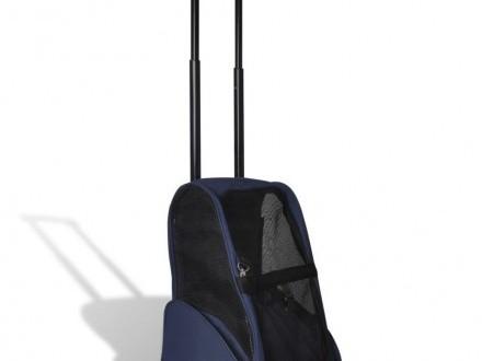 Składany wózek dla zwierząt  niebieski 170193