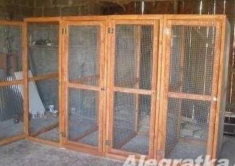 klatka dla królików drewniana 12 komorowa wielka