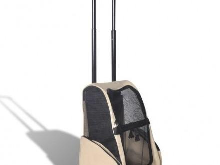 Składany wózek dla zwierząt  beżowy 170192