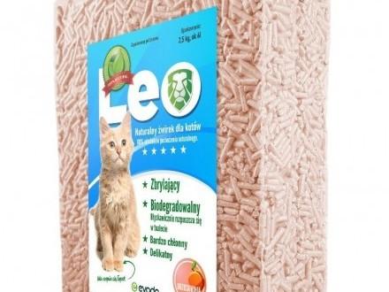 Leo - naturalny żwirek Tofu o zapachu brzoskwini Zbrylający super wydajny doWC