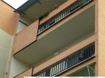 Montaż siatki ochronnej na balkon  siatki balkonowe dla kota Kraków