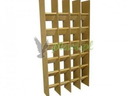 Regał spoczynkowy dla młodych gołębi 24 stanowiska - Ptasipl