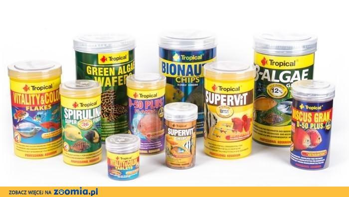 Pokarmy Tropical dla ryb i inych zwierząt na wagę z dostawą do domu