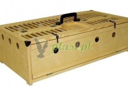 Kosz transportowo-treningowy dla ptaków - 2 Cele MIDI DELUX - Ptasipl