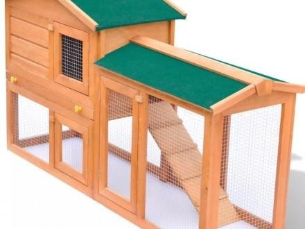 vidaXL Duża klatka dla królików lub małych zwierząt 170162
