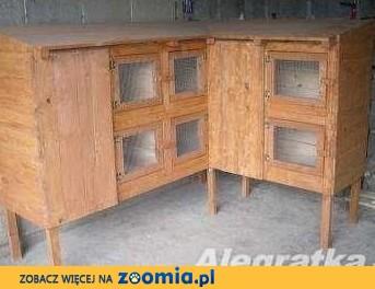 klatka klatki dla królików drewniana 12 komorowa i inne...