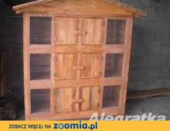 domek klatka dla królików 6 komorowa