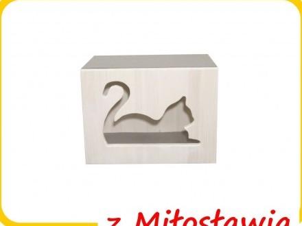 BUDKA na ścianę dla kota domek legowisko hamak z MIŁOSŁAWIA