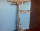 Stojak brzozowy dla papug125 cm