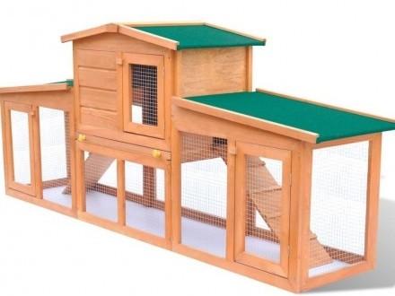 vidaXL Duża klatka z zadaszeniem dla królików 170163