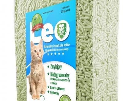 Leo - naturalny żwirek tofu o zapachu zielonej herbaty Zbrylający  do WC