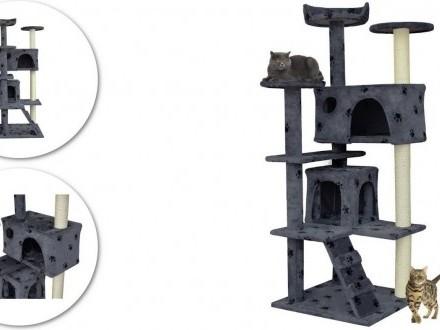 Drapak dla kota w łapki z legowiskiem