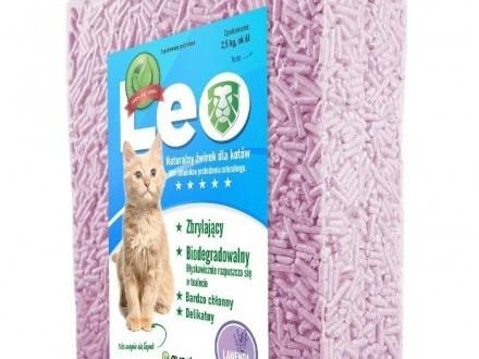 Leo - naturalny żwirek tofu o zapachu lawendy Zbrylający Rozpuszczalny w WC