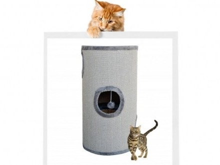 Drapak dla kota typu tuba 70 cm szary